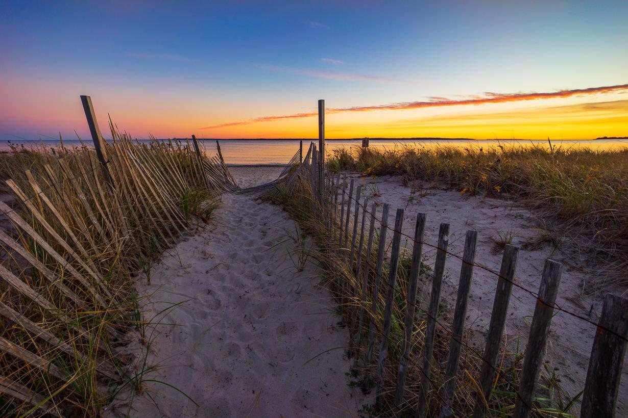 Surf Drive Beach Path Sunset