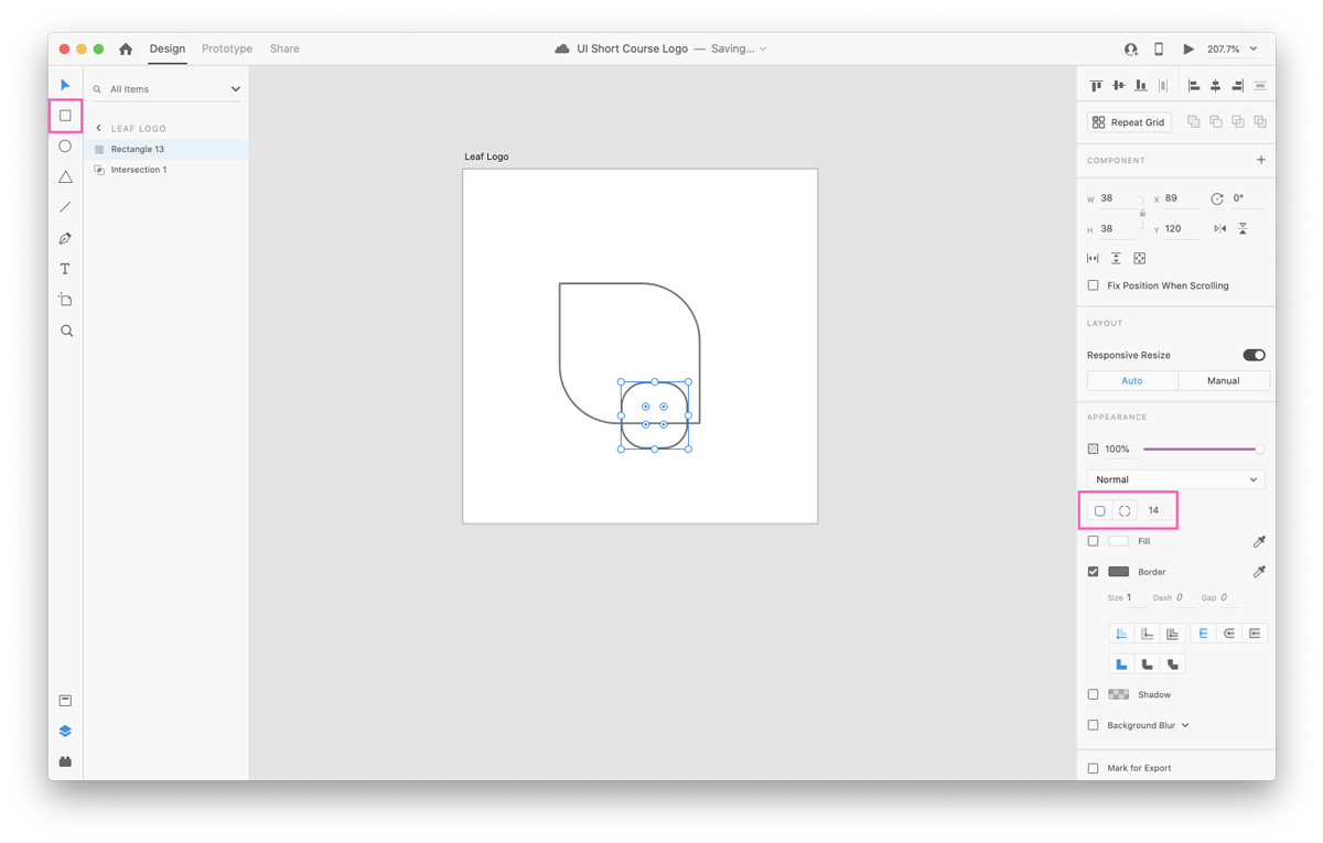 Intersecting shapes in Adobe XD