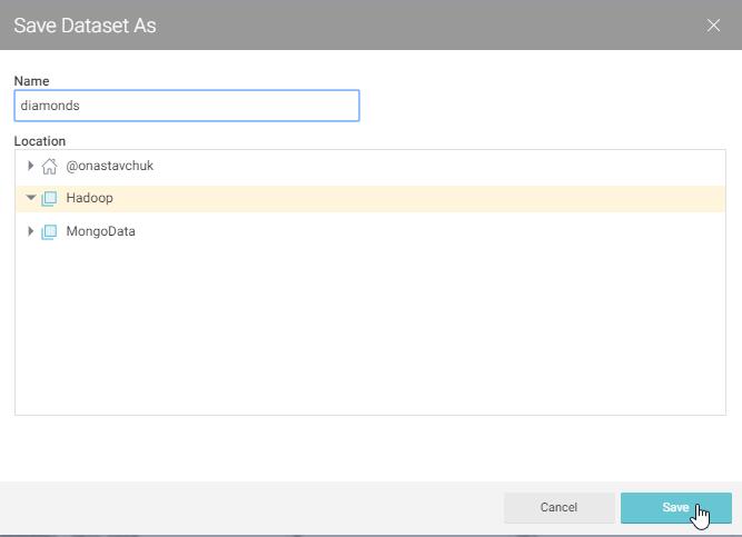 savedataset with Hadoop and Qlik