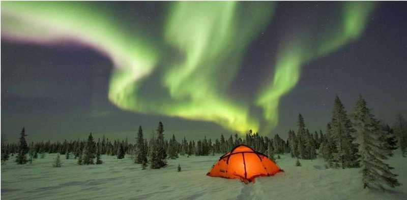 The Northern Lights at Waskesiu Canada National Park