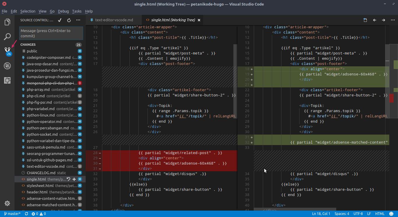 Fitur Git VS Code
