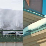 comparison of gutters with and without snow guards