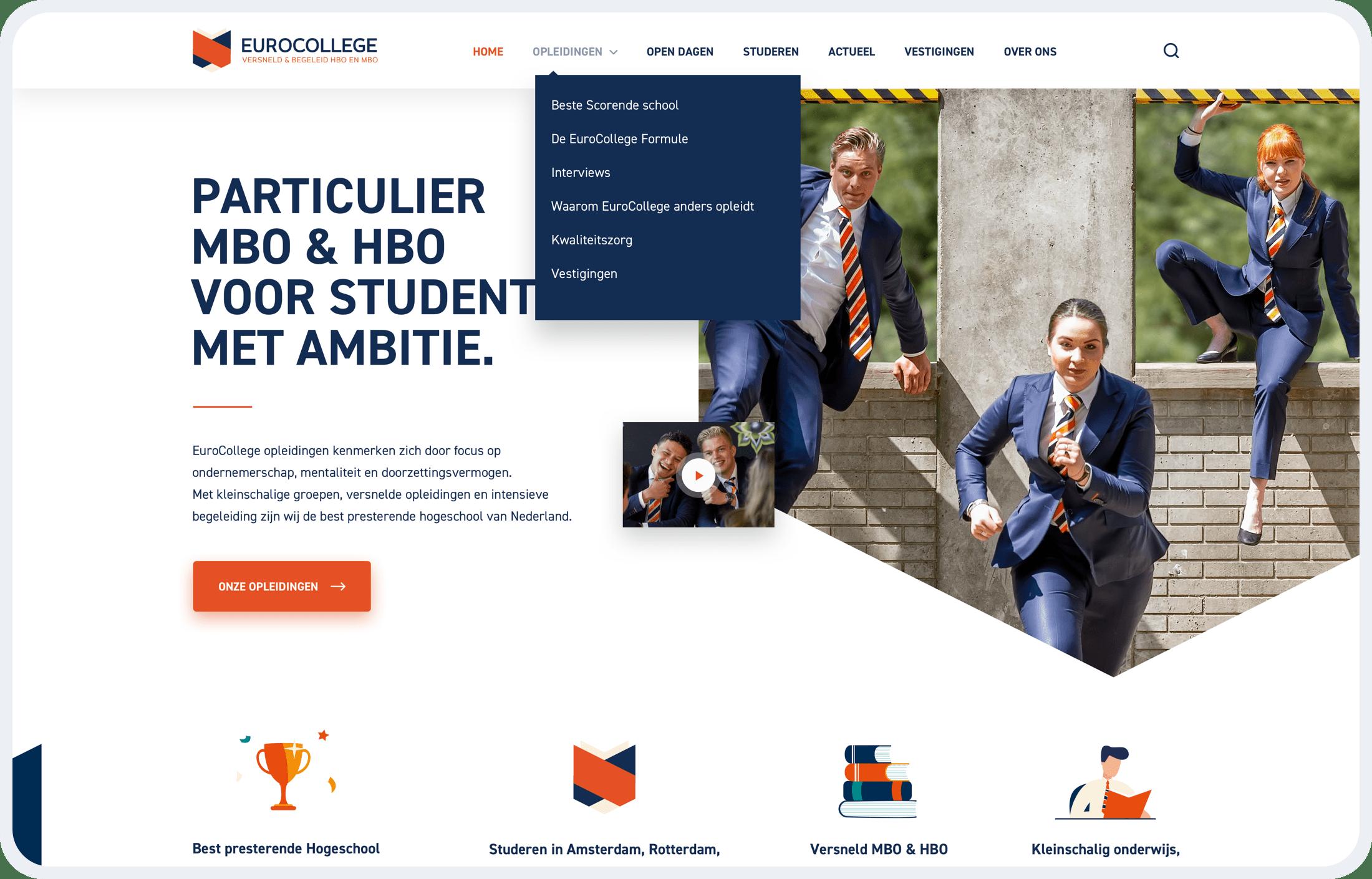 EuroCollege homepage