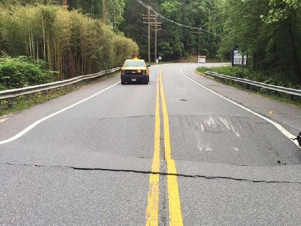 메릴랜드 일부 도로, 싱크홀로 일시 폐쇄