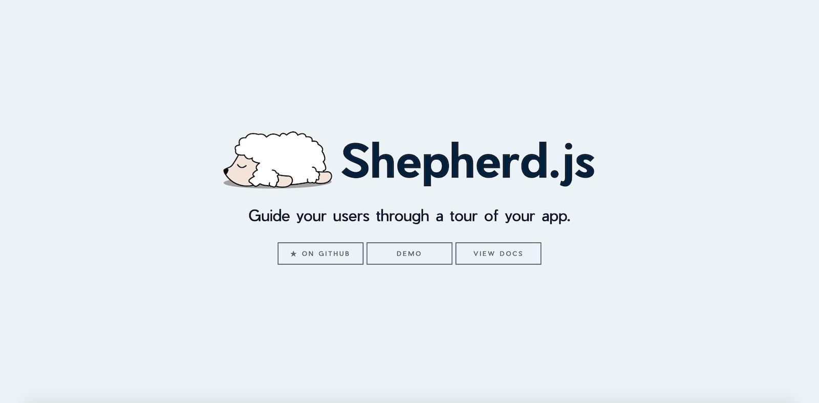 Shepherd.js Landing Page