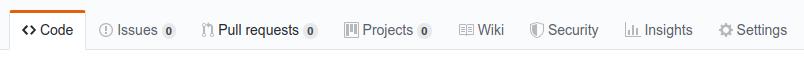 GitHub repo top bar