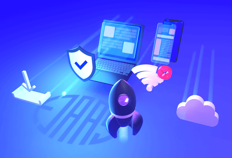 3D illustration af fordelene ved Progressive Web apps