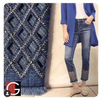 Laser Cut Lattice Jeans