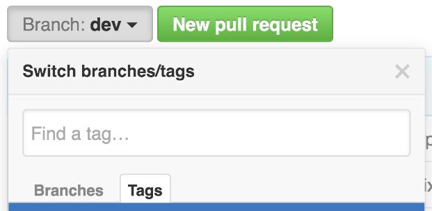 selector de etiquetas de GitHub