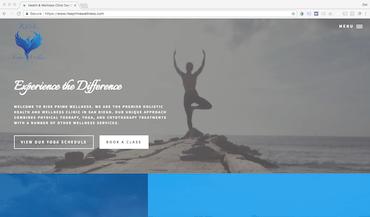 rise prime wellness website screenshot