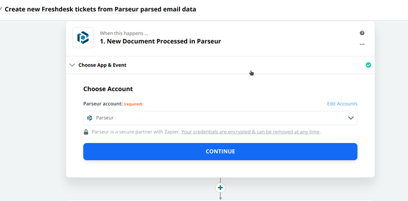Connect your Parseur account