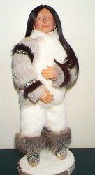 Eskimo woman doll