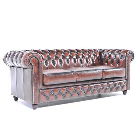 The Original Chesterfield Brighton 3zitsbank Zetel Salon Antiek Bruin 550x550 50 cm
