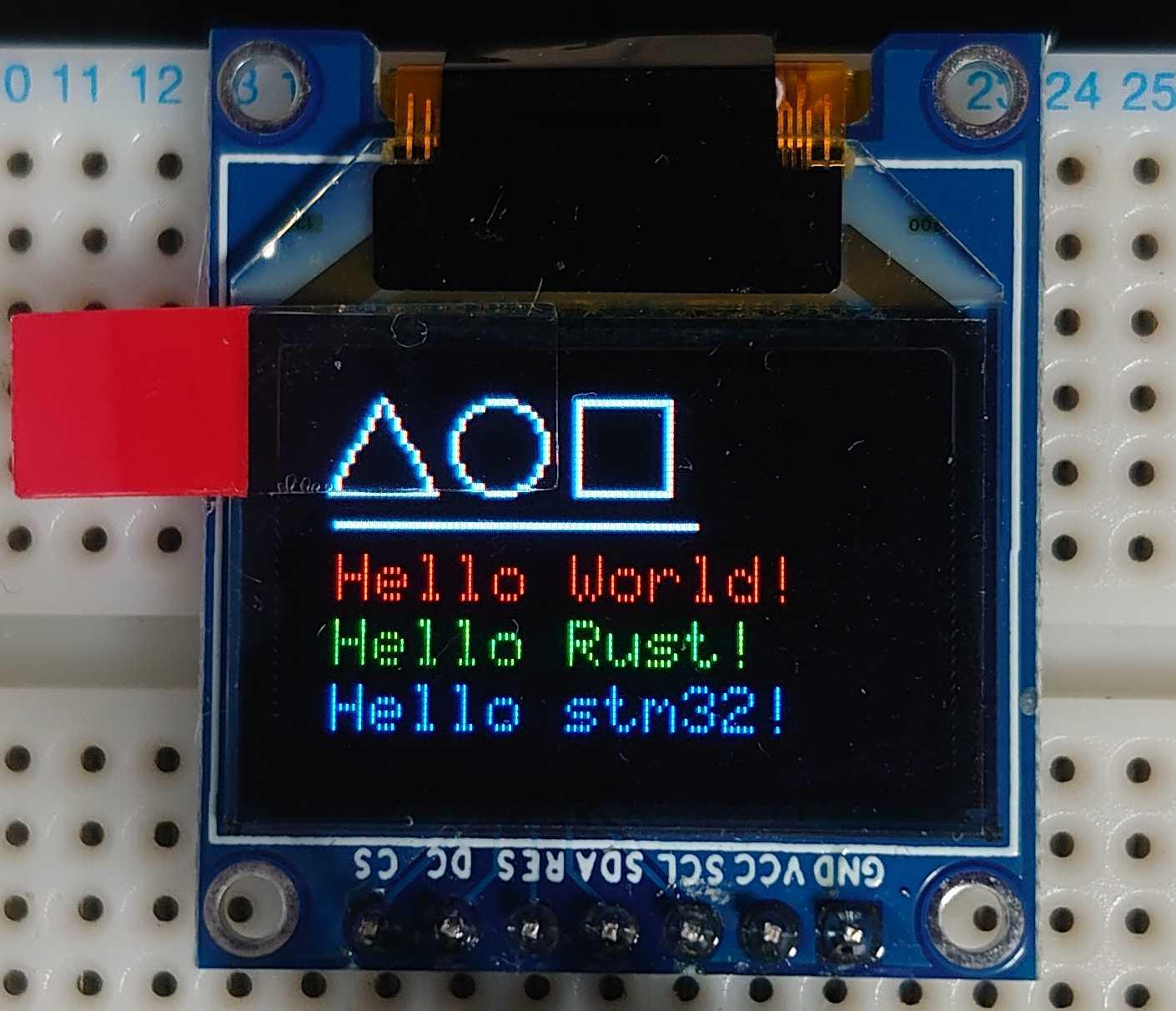 stm32とSPI接続のSSD1331搭載有機ELディスプレイでHello worldした。 cover image