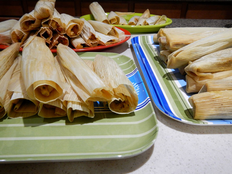 Completed Tamales