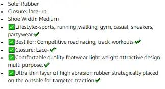 Shoe description