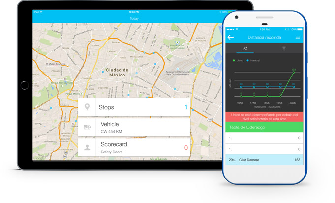 Devices fleet tracking app mx