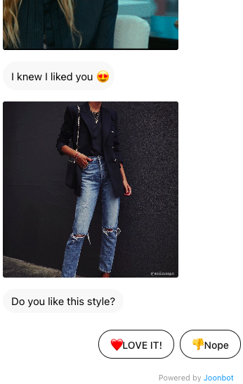 Jamie & I is doing a style quiz to send customized clothing suggestions.
