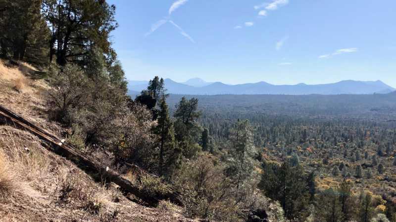 A hazy view of Lassen Peak
