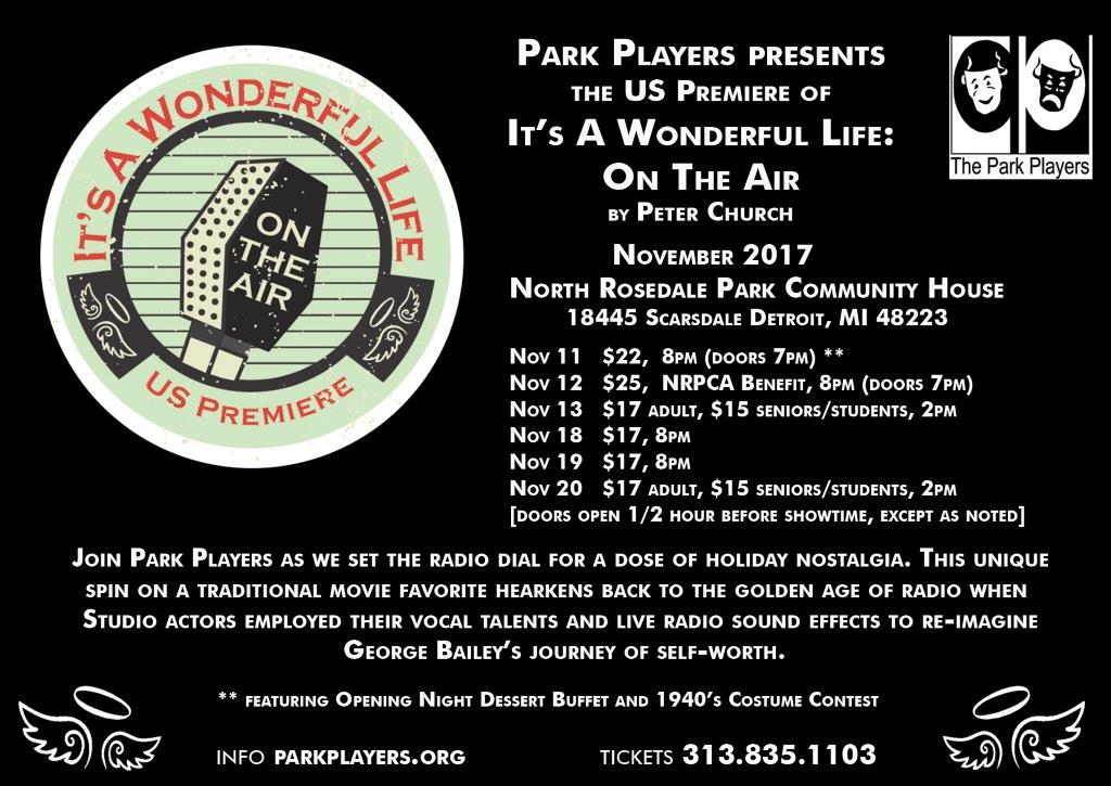 It's a Wonderful Life: Live on the Air flier