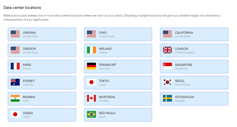 Choose datacenter regions