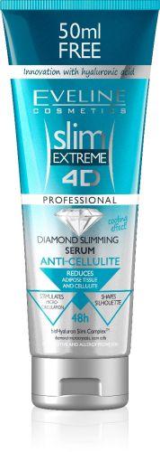 EVELINE Slim Extreme 4D DIAMOND Anticellulit Szérum hyaluron savval 250 ml