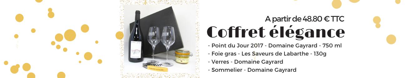 coffret élégance de Noel du Domaine gayrard dans le Tarn - vins de gaillac