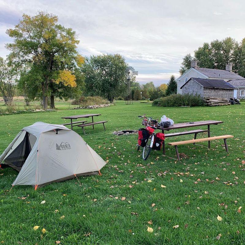 Campsite in Iroquois, Ontario