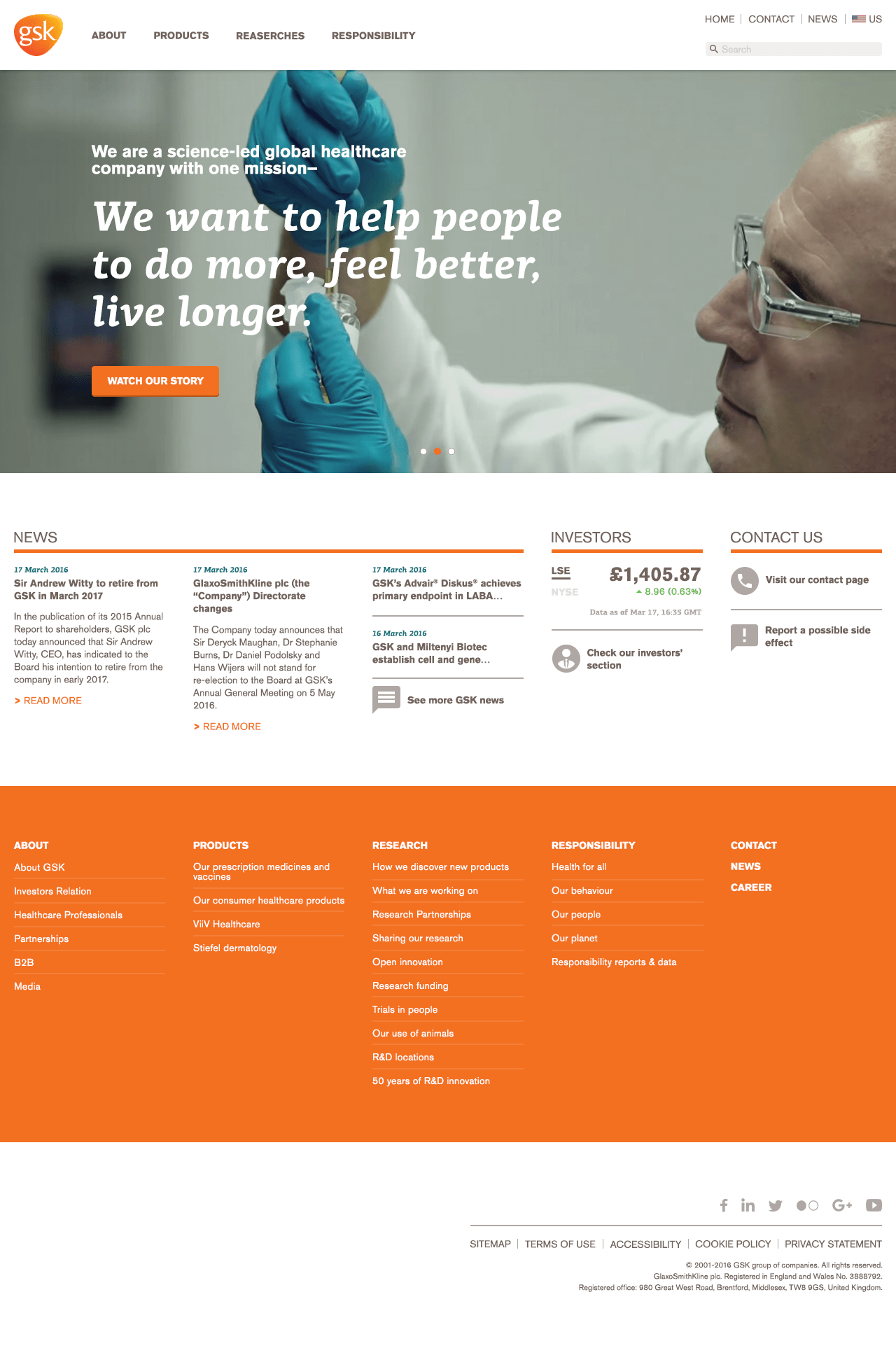 GSK Homepage Redesign