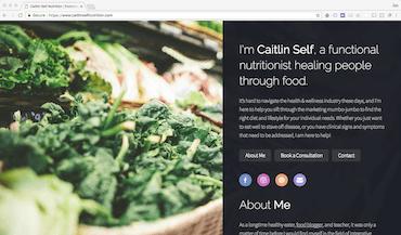 caitlin self nutrition website screenshot