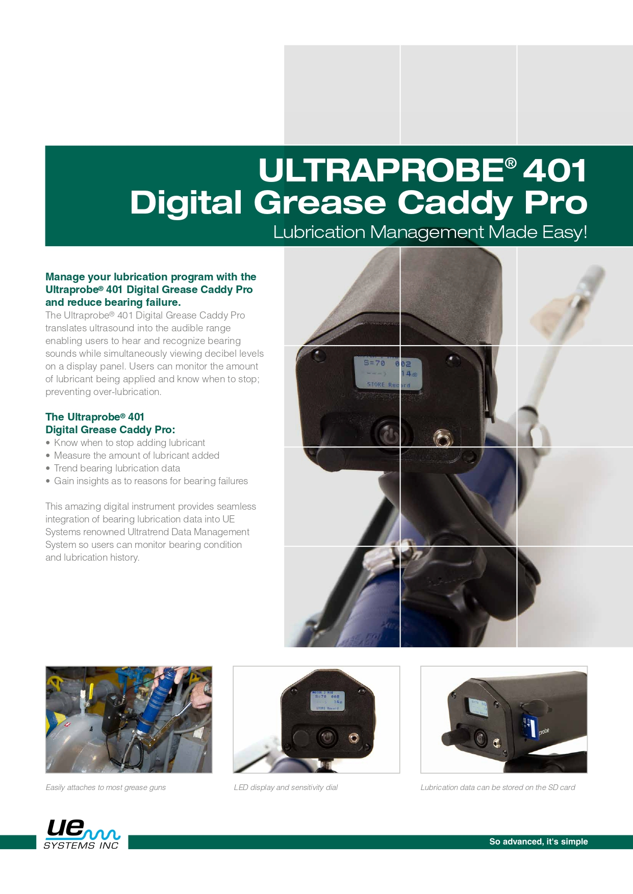 UP401 Grease Caddy Pro Brochure