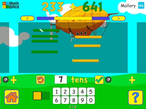 Add two 3-digit numbers (no regrouping) Math Game