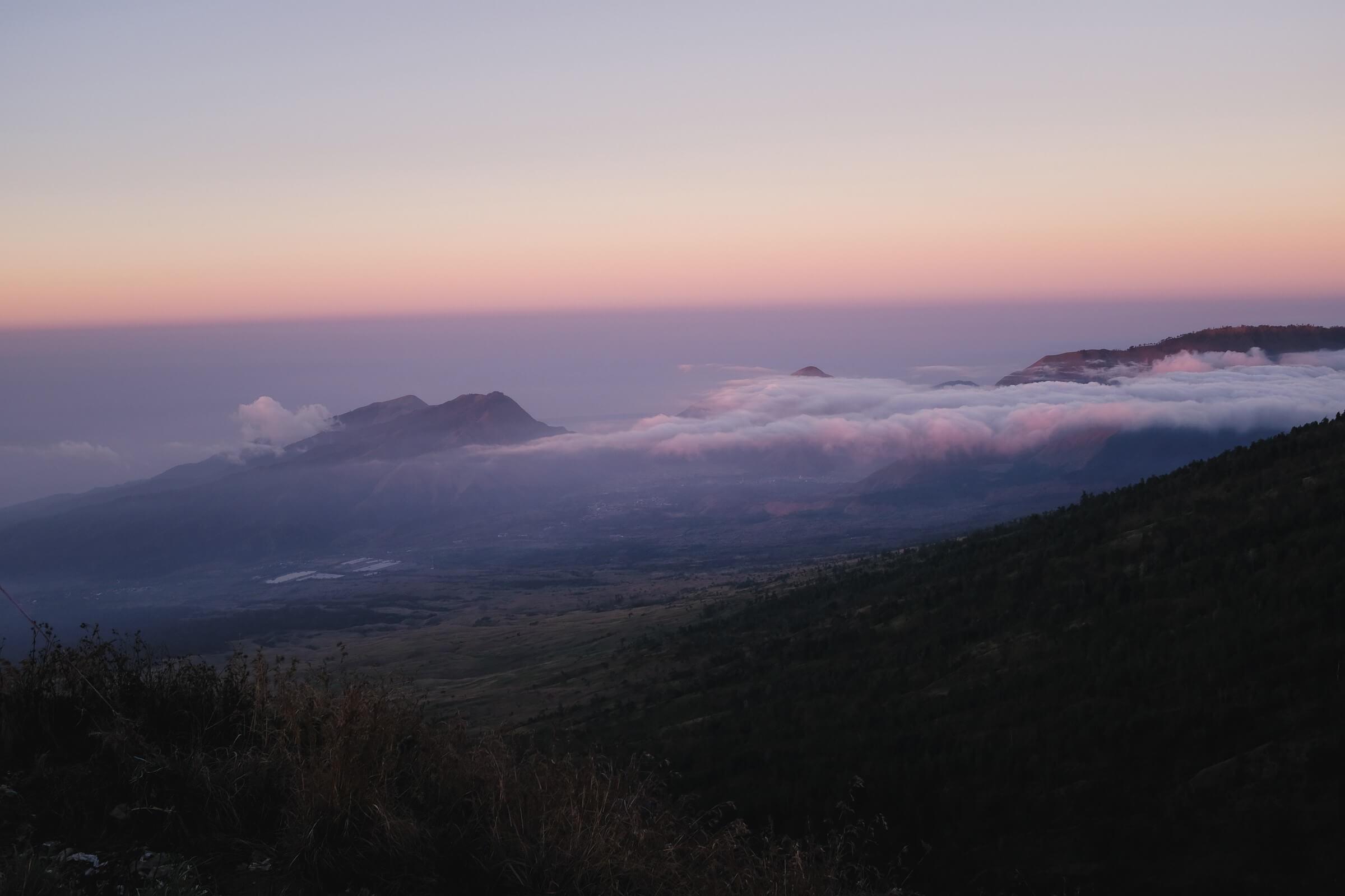 Sunrise from Rinjani Base Camp