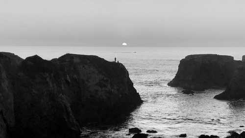 Sunset on the Pacific Ocean near Mendocino, California