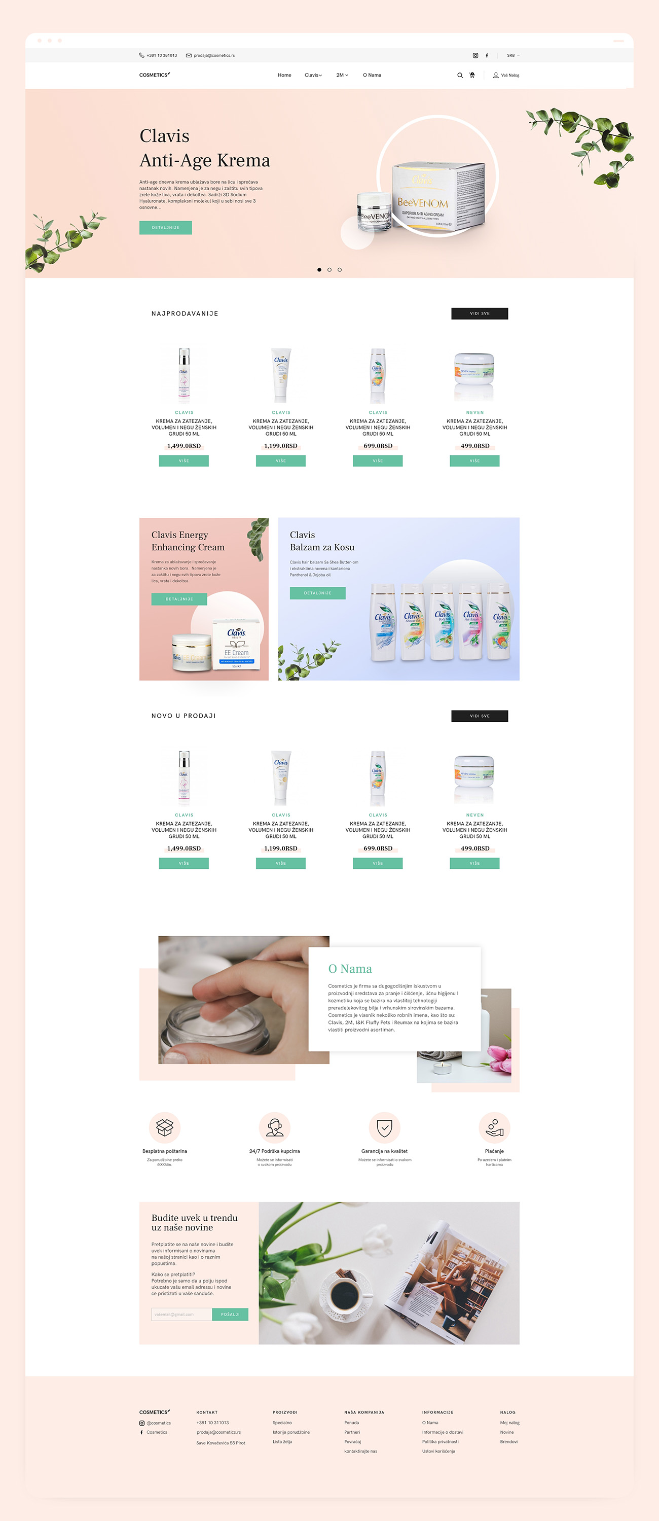 Cosmetics Case Study Full Landing Page Showcase