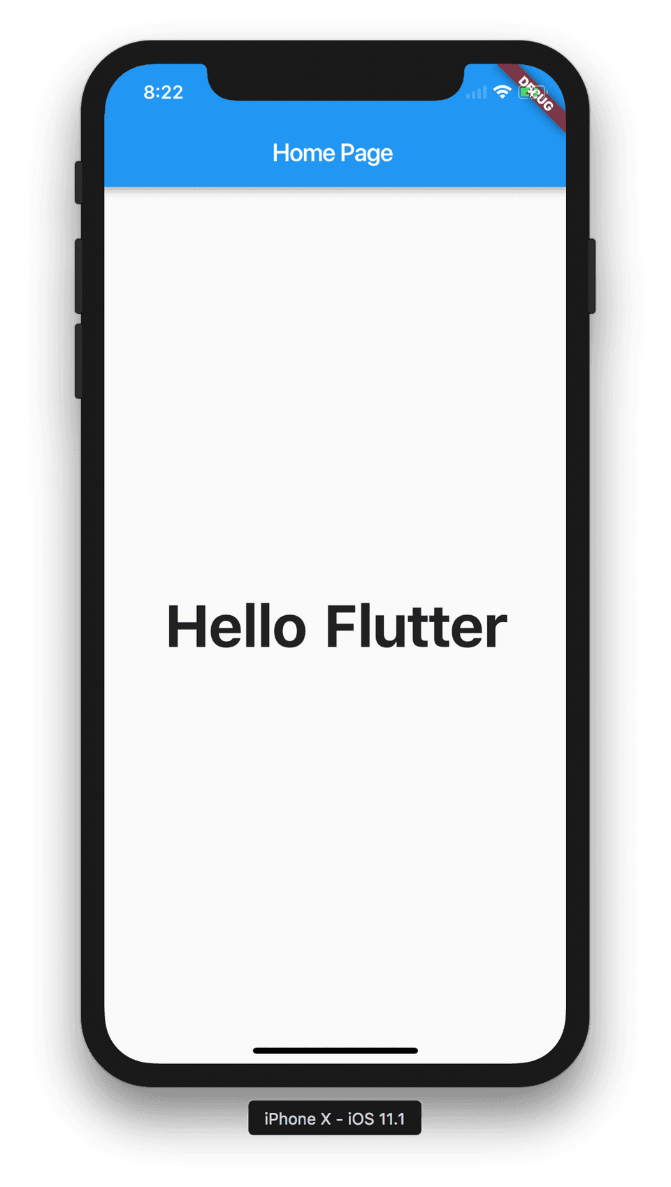 Flutter application with navigation bar and body