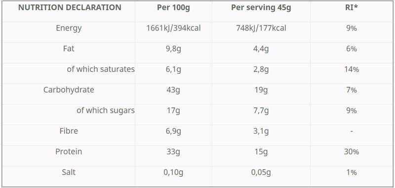 Hungry Not Μπάρα πρωτεΐνης με μαύρη σοκολάτα & μπισκότο - 45γρ