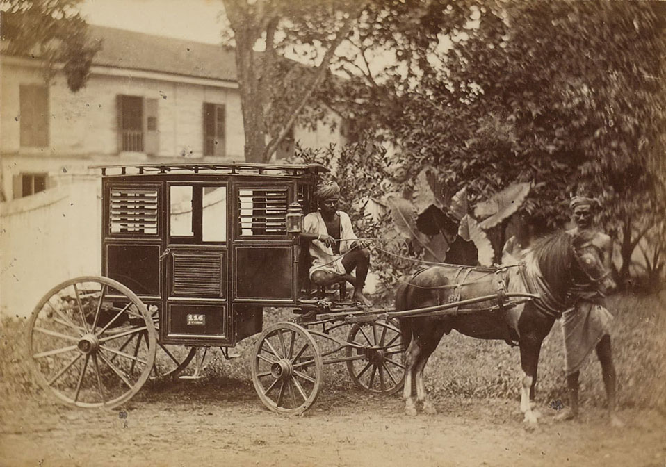 Horse-drawn carriage, 1800s