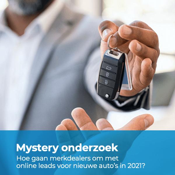 E-book: Mystery onderzoek: Hoe gaan merkdealers om met online leads voor nieuwe auto's in 2021?