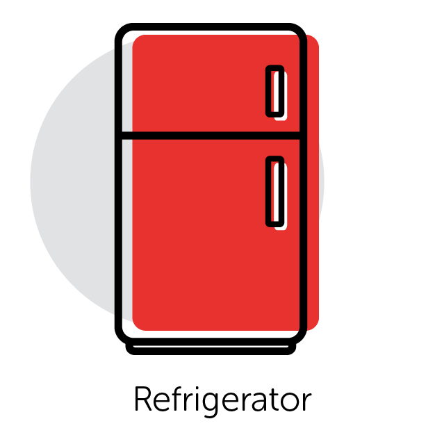 Graphical Icon of a Refrigerator