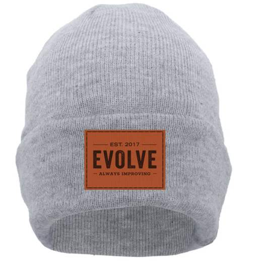 Evolve strong fitness Leather patch beanie