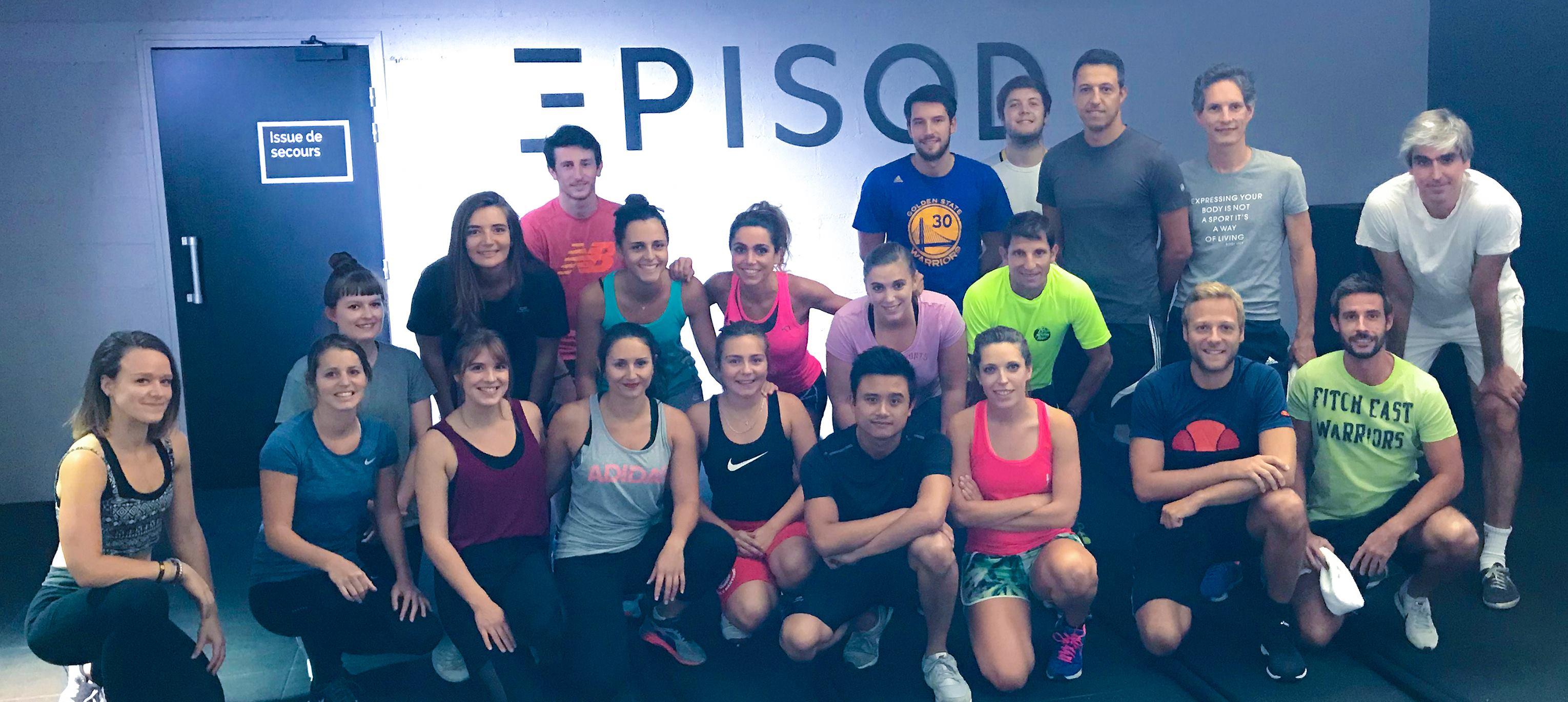 L'équipe Gymlib chez Episod
