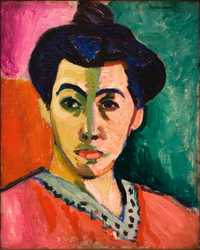 'Portrait of Madame Matisse (The green line)' by Matisse in 1905, Statens Museum for Kunst, Copenhagen, Denmark