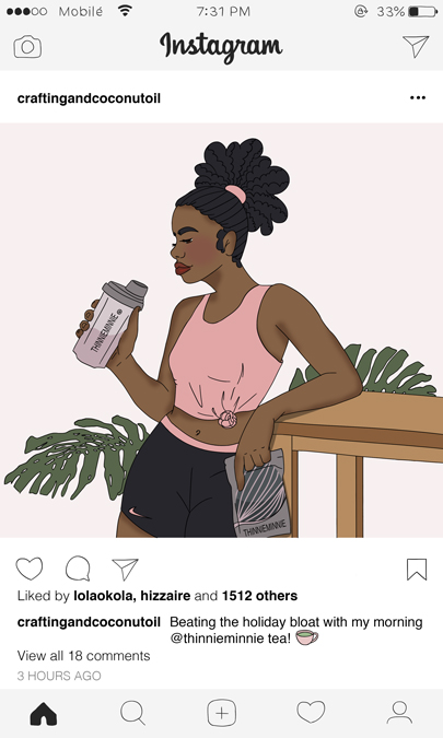 Thinnie Minnie instagram post