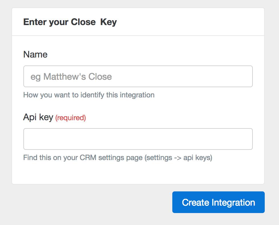 Close Key Entry