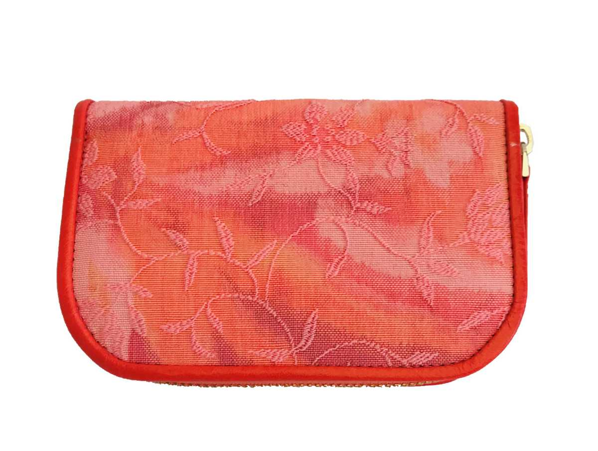 Dalim Mini Wallet Textile - coral, patterned