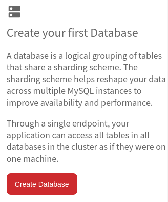 Create your first Database