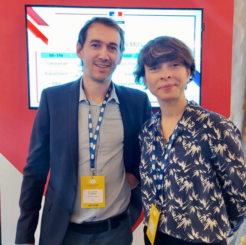 Jean-Baptiste Le Dévéhat et Dora Crisan, EIG pour le défi «Brigade numérique»