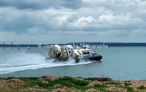 Landscape Image of a Hovercraft gliding on the water Clarence Pier, Southsea, Portsmouth