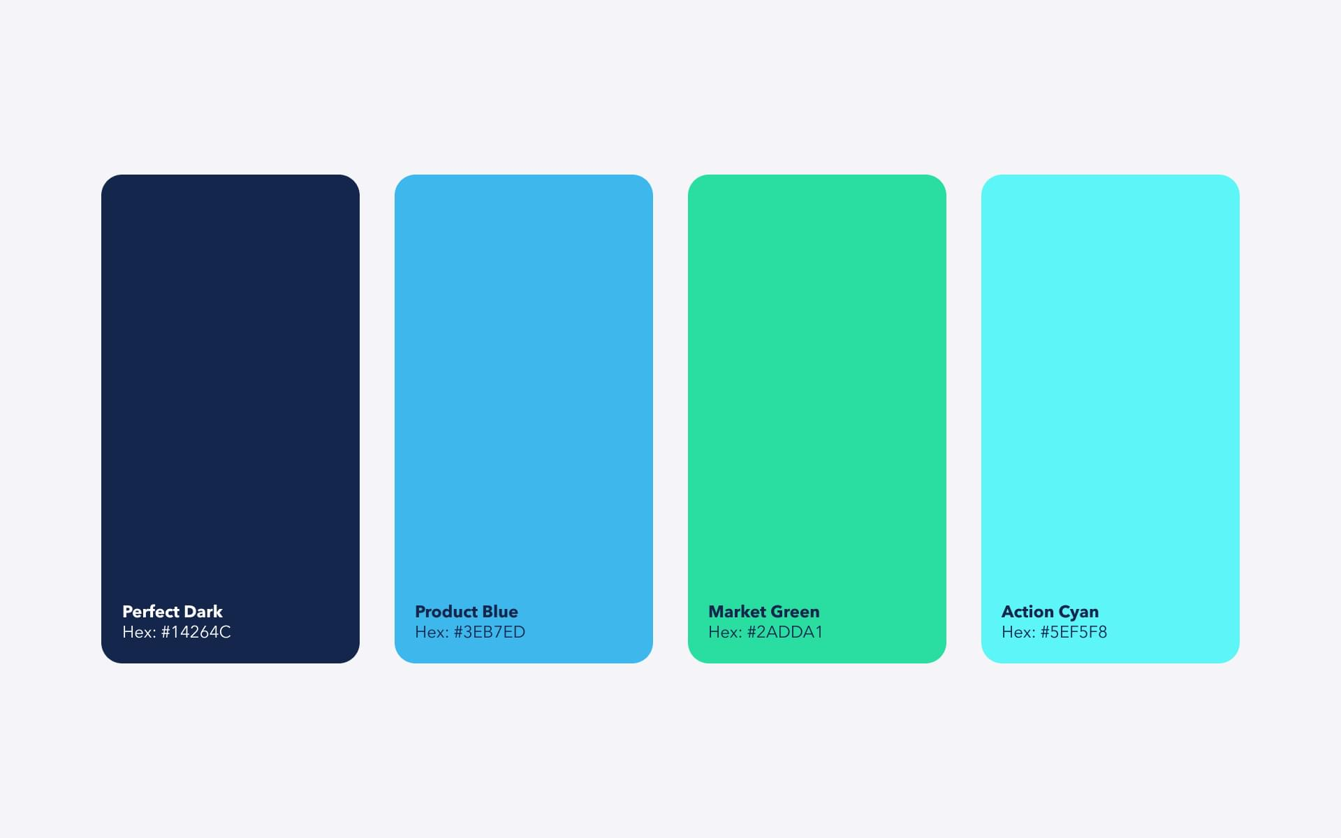 Color palette for B2B SaaS brand identity